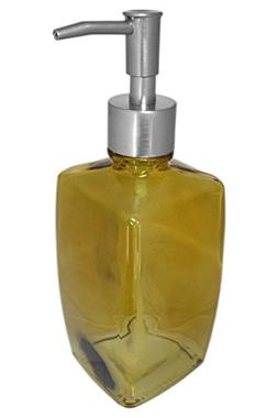 Amber Yellow Large Glass Kitchen Bathroom Soap Lotion Dispen