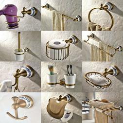 antique brass ceramic bathroom accessories set bath