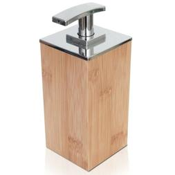 ToiletTree Products Deluxe Bamboo Soap and Lotion Pump Dispe