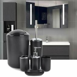 Bathroom Accessories Set 6 Pcs Bathroom Set Trash Can Soap D