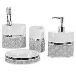Creative Scents 4 Piece Bathroom Accessory Set - Gift Packag
