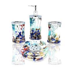 ADUTY 4 Piece Bathroom Accessories Complete Set Acrylic Ocea
