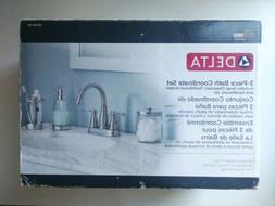 Delta 3-Piece Bathroom Countertop Accessory Kit in Satin Nic
