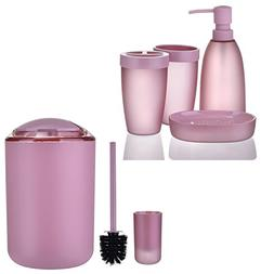 iMucci Bathroom Accessories 6pcs Set with Trash Can,Toothbru
