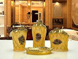 USTARAIL Bathroom Accessories set Imperial Palace Rose Yello