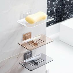 Bathroom Soap Dishes Holder Wall Rack Shampoo Shower Dispens