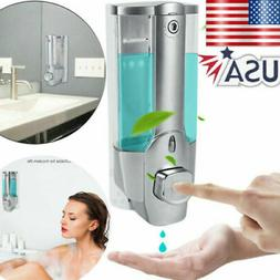 Liquid Soap Manual Dispenser Wall Mount Hand Liquid Shampoo