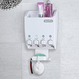 Better Living Shower Caddy 4 Button Shampoo Soap Dispenser &