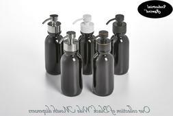 Black Soap Dispenser - 16oz Black Glass Bottle for Foaming S
