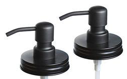 Jarmazing Products Black Mason Jar Soap Dispenser Lids - Two