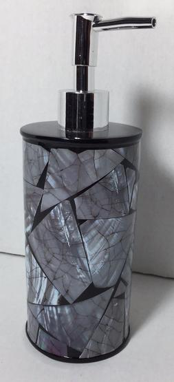 Brand New Lotion / Soap dispenser Anna's linens Black and Gr