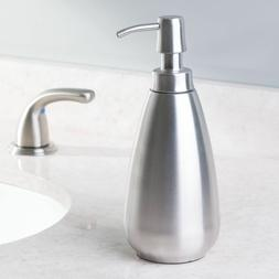 brushed stainless steel soap and lotion dispenser