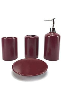 WPM 4 Piece Ceramic Bath Accessory Set | Includes Bathroom D