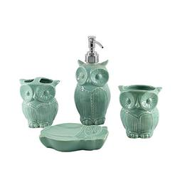 4-Piece Ceramic Bathroom Accessories Set Matt White With Gol