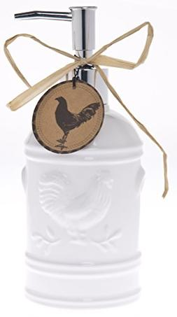 Ceramic Rooster Soap Dispenser- Lotion Dispenser for Kitchen