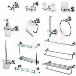 Chrome Bathroom Accessories Towel Rail Rack Bar Tissue Soap