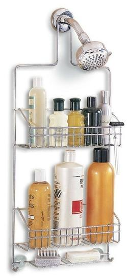 Chrome Shower Caddy Interdesign New Cora Foaming Soap Pump B