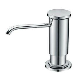 Chrome Sink Soap Dispenser Pump Bottle Easy Refill Head Set