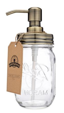classic farmhouse mason jar soap dispenser brass