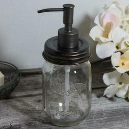 Classic Farmhouse Mason Jar Soap Dispenser Oil-Rubbed Bronze