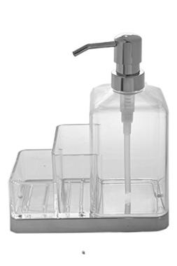 Large Clear Acrylic 20oz Kitchen Soap Pump Dispenser with 2