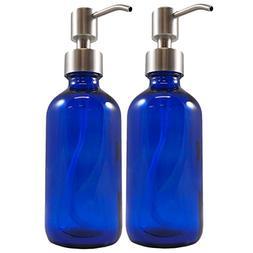 Cornucopia Brands Cobalt Blue Glass Boston Round Bottles wit