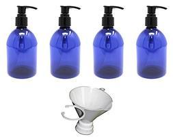 Earth's Essentials Cobalt Blue 10 Ounce Refillable Designer
