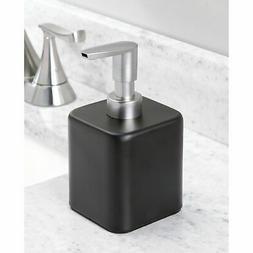 mDesign Compact Square Metal Refillable Soap Dispenser Pump