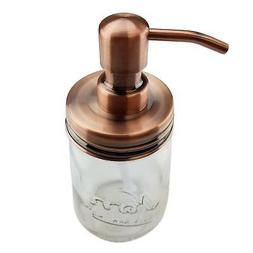 Nighthawk Copper Mason Jar Soap Dispenser Lid | Rust Proof M