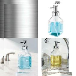 InterDesign Cora Glass Foaming Soap Pump Dispenser Holds 18.