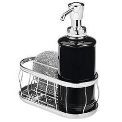 mDesign Decorative Ceramic Kitchen Sink Countertop Liquid Ha