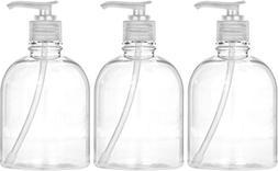 Bar5F Lotion Dispenser Bottles 16 OZ, Pack of 3