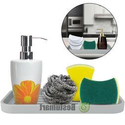 Dispenser Soap Sponge FDA Tray Holder Silicone Kitchen Stora