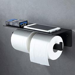 Double Toilet Paper Holder with Shelf, Aomasi SUS304 Stainle
