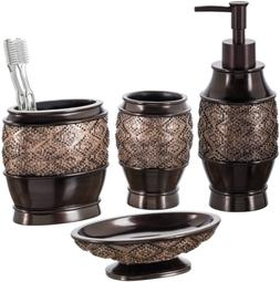Creative Scents Dublin 4-Piece Bathroom Accessories Set, Inc