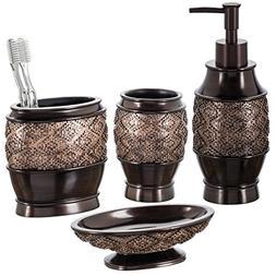 Dublin 6-Piece Bathroom Accessories Set, Includes Decorative