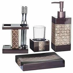 Elegant Decorative 4-Piece Bathroom Accessories Kit With Soa