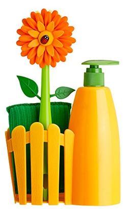 Vigar Flower Power Orange Sink Side Set with Soap Dispenser,