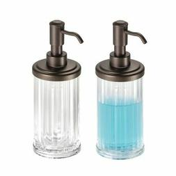 mDesign Fluted Refillable Liquid Soap Dispenser Pump