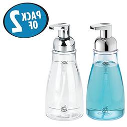 mDesign Foaming Soap Dispenser Pump Bottle for Bathroom Vani