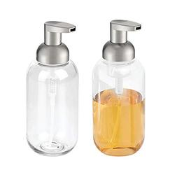mDesign Round Plastic Refillable Foaming Hand Soap Dispenser