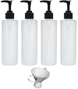 Earth's Essentials Four Pack of Refillable 8 Oz. HDPE Plasti
