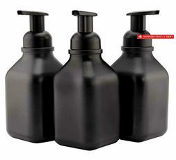 Cornucopia Brands Glass Foaming Soap Dispensers (3-Pack, Squ