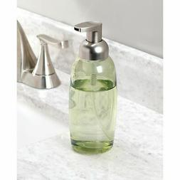 mDesign Glass Refillable Foaming Soap Dispenser Pump