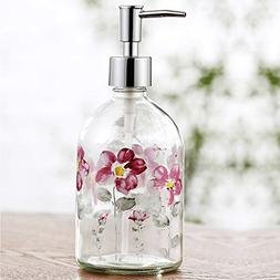 Ivy Home Glass Soap Dispenser Bottle with Plastic Pump