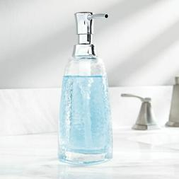 mDesign Glass Tall Refillable Liquid Soap Pump Dispenser