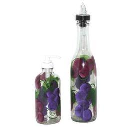 ArtisanStreet's Grape Design Pour Bottle & Soap Pump Dispens