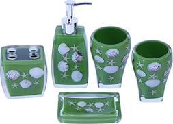 Chabaline 5-Piece Green Beach Complete Bathroom Sets Collect