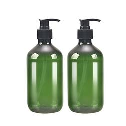 2 Pack Green 500ml 16.7oz Empty Plastic Pump Bottle Bottles.