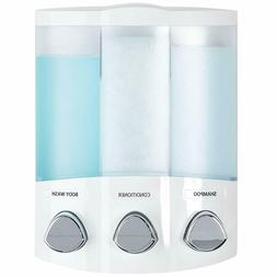 Soap and Shower Dispenser 3-Parts Re-Filling Bottles Bathroo